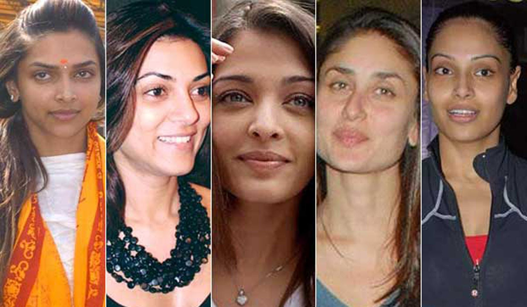 without make-up some of your favorite actress like this