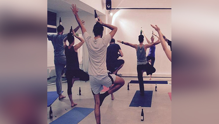 beer yoga trend