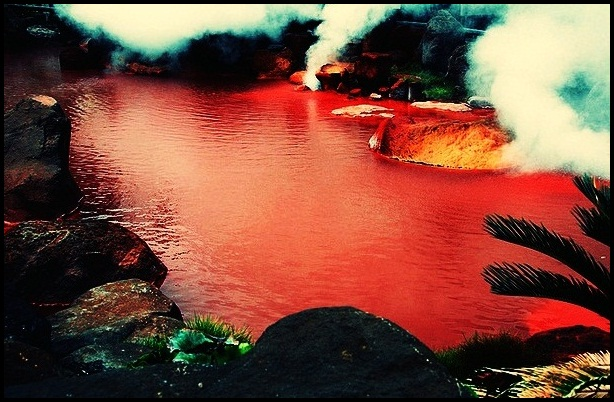bloody pond in japan