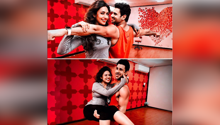 Kickass Dance Step: Divyanka Kicks Hubby Vivek's Ass, Is Showing How She Torture Him In A Funny Way!