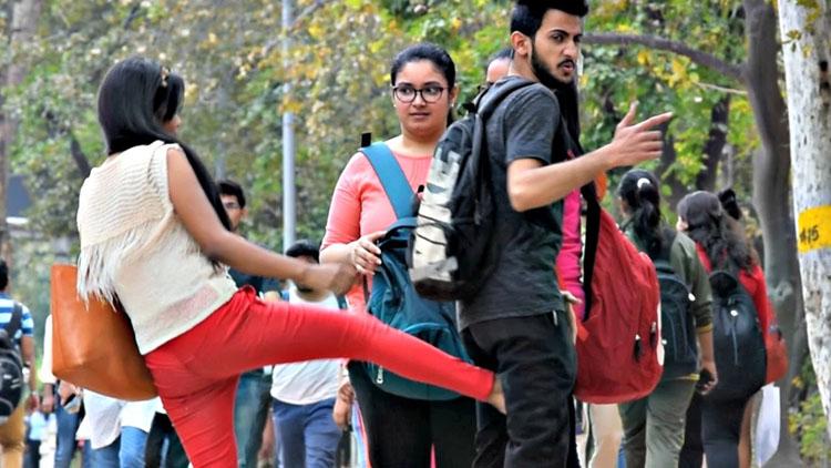 Hot Girl Kicking Balls Prank AVRprankTV Pranks In India