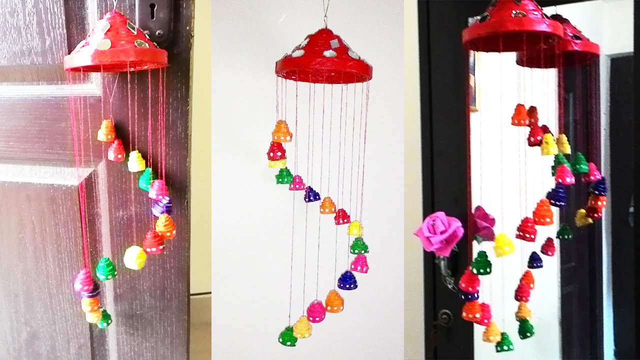 beautiful newspapers chandelier for diwali