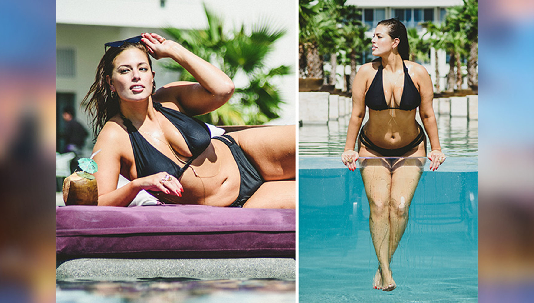 Ashley Graham hot pictures on christmas