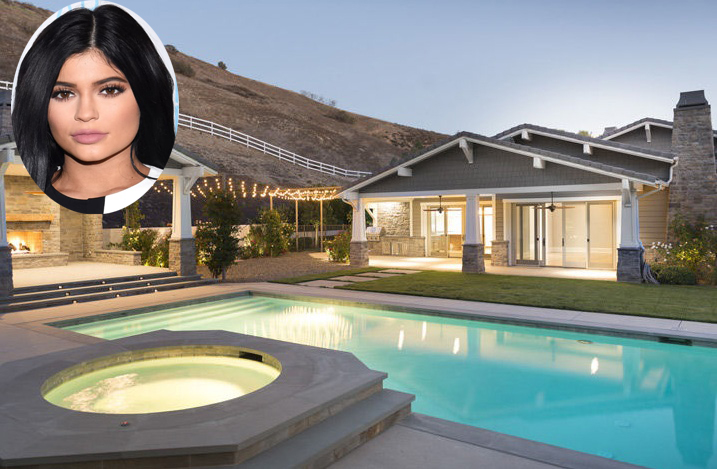 viral pictures of kylie jenners california home