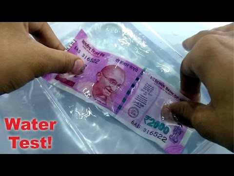 note of 2000 rupees is waterproof or not