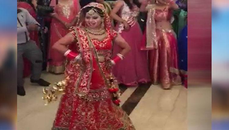 Indian bride amazing dance in her own wedding