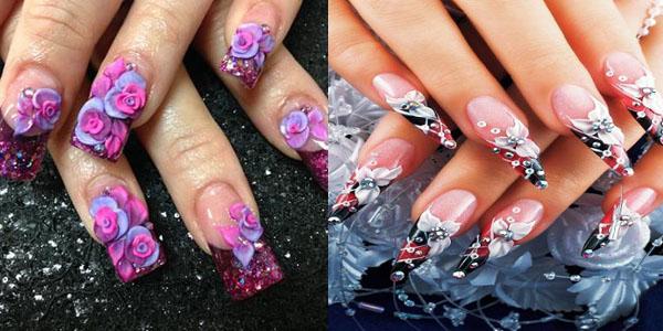 3D nail art in trending