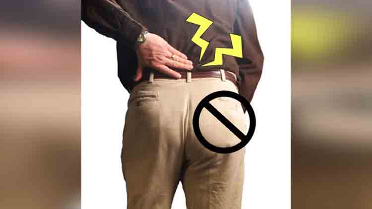 keep wallet in backpocket in dangerous for your health