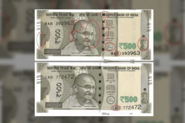 10 printing mistakes in 500 rupees new note