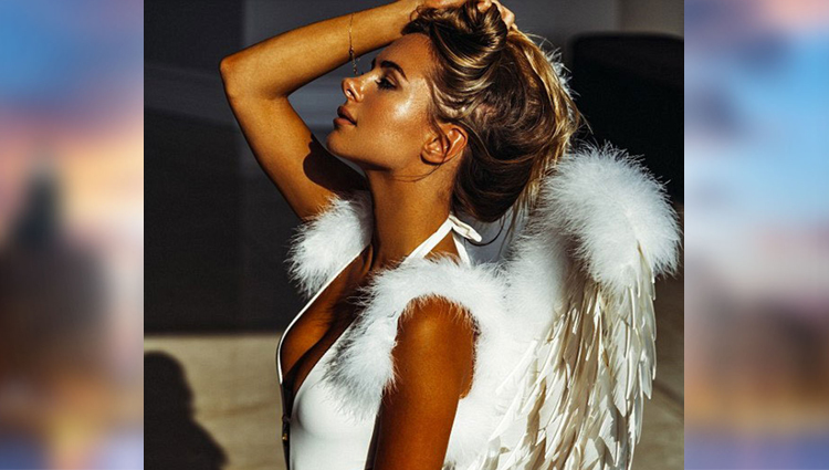kimberley garner hot photoshoot with wings