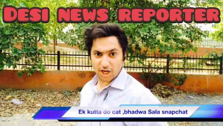 Desi News Reporter Harsh Beniwal