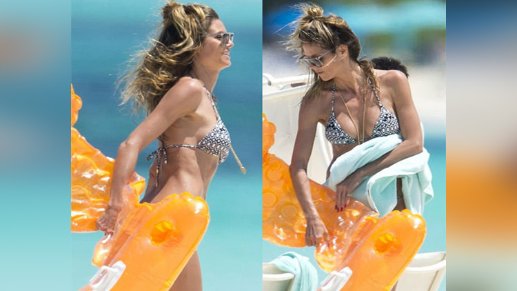 Heidi Klum Enjoying Holiday in Turks And Caicos viral picture on instagram