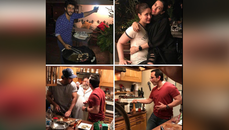 Ranbir Kapoor And Saif Ali Khan Flaunting Their Cooking Skills In Pictures Posted By Karishma Kapoor On Instagram