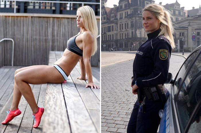 Stunning police officer is viral star after posting fitness photos