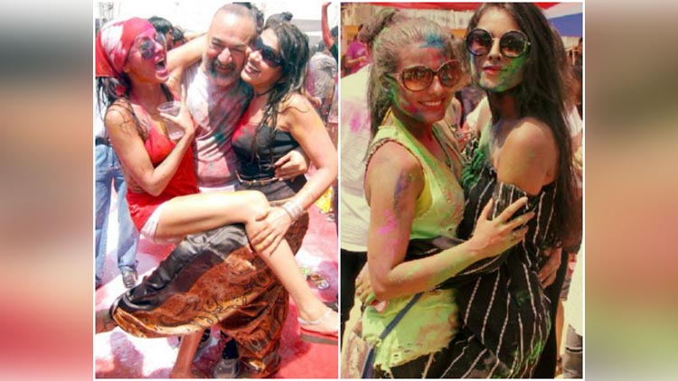 Tv Stars During The Holi Celebration