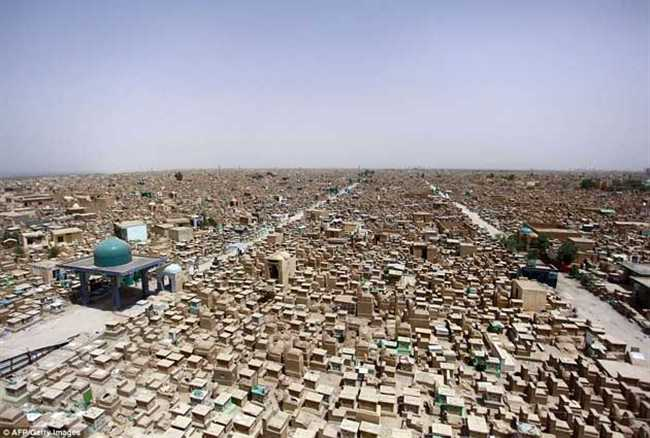 world's biggest graveyard in iraq