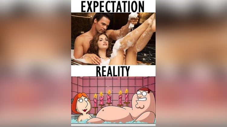 expectation vs reality images