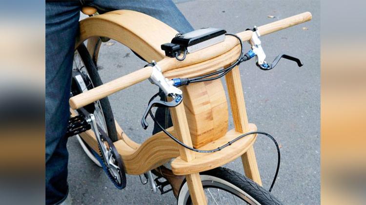 wooden e bike