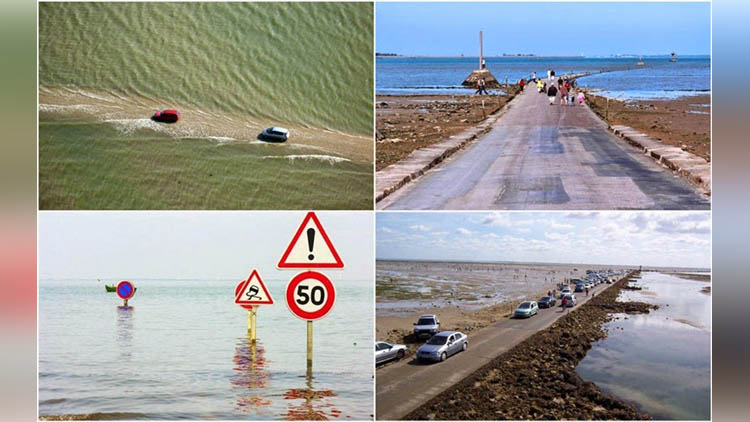 Passage du Gois is a disappearing road in France