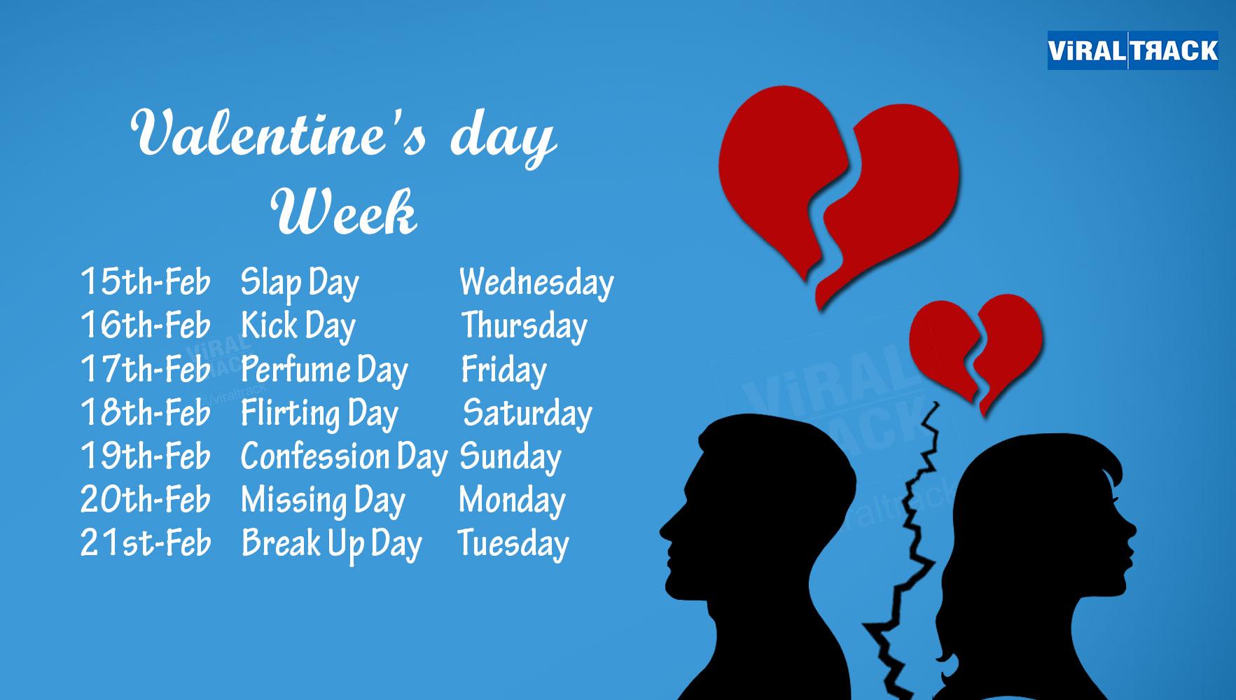 reverse valentine week calendar week list