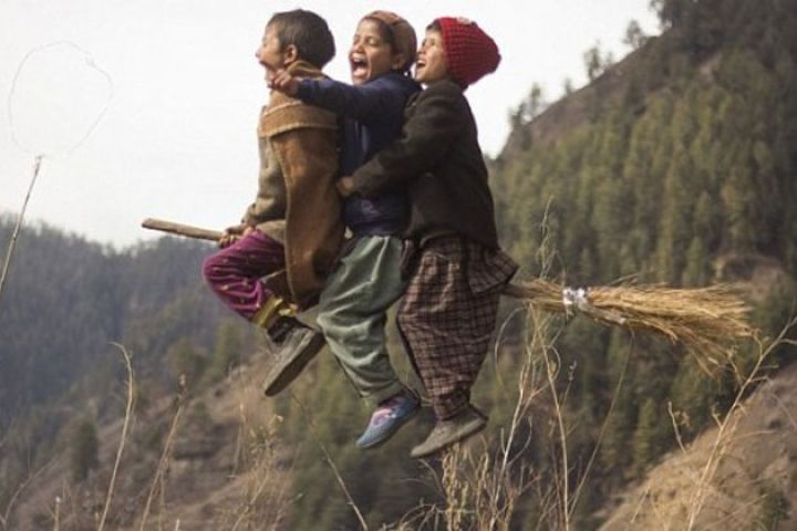 uttarakhand children flying like harry potter