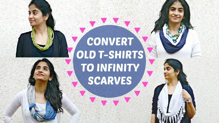4 Ways to Convert your Old T shirts into Infinity Scarves