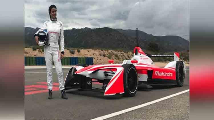 Gul Panag, the first Indian female driver to run Formula E Racing Car