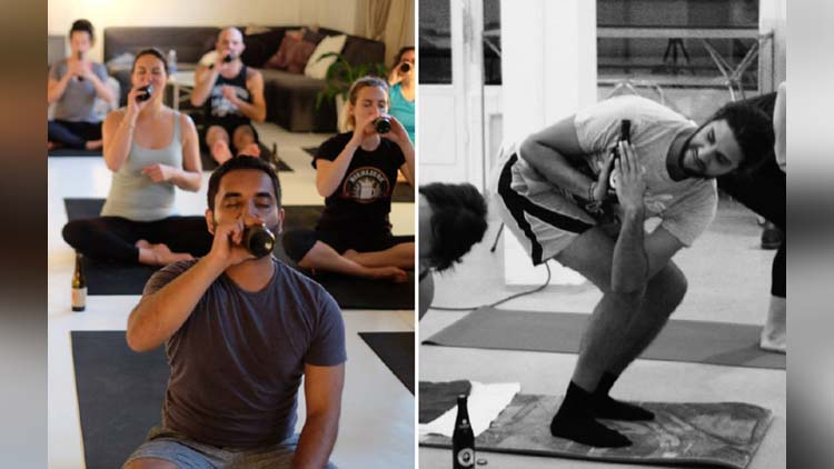 beer yoga trend in abroad