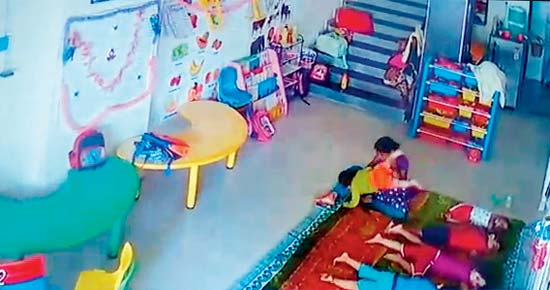 10 months old baby beaten by her maid