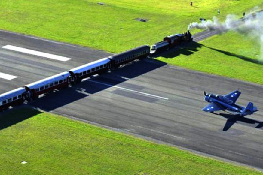 New Zealand is used to blow the plane waiting for train