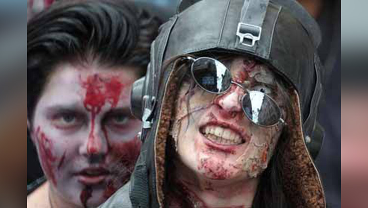 dress up as zombies