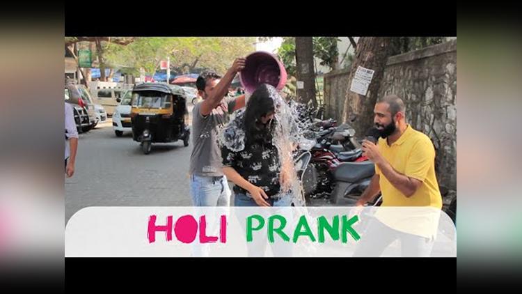 Holi Prank in Public shudh Desi Videos