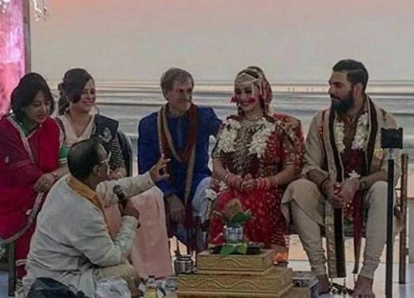 yuvraj singh again marriage with hazel keech in goa