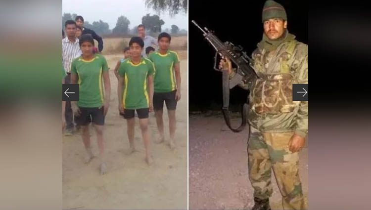 off duty army man trains villagers in haryana