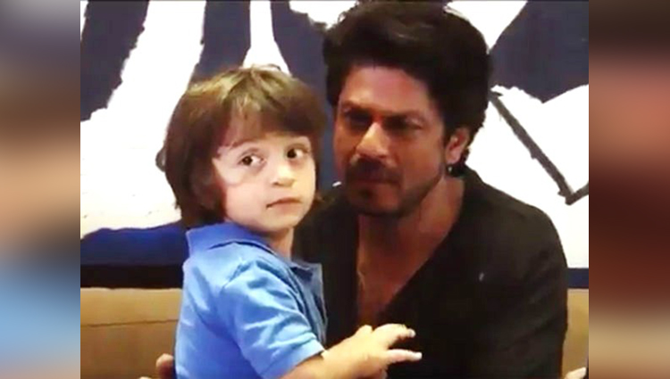 shahrukh khan and abram cute video viral