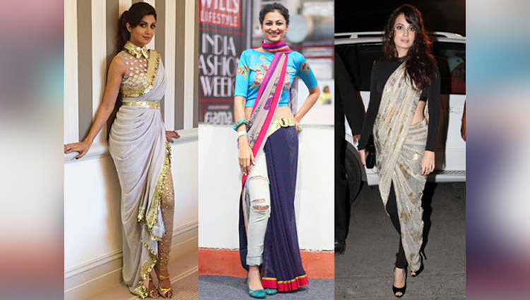 Chic Womaniya: Reinvention Of Sari with Jeans Sorts Everything Out For Today's Women!
