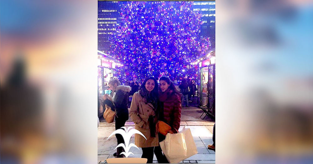 saif ali khan daughter sara ali khan celebrating christmas