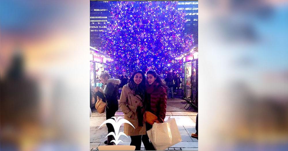 saif ali khan daughter sara ali khan celebrating christmas