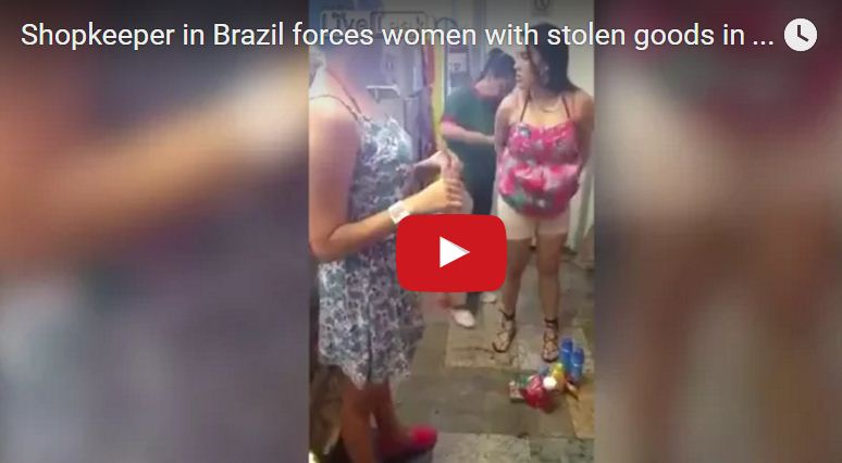 Was caught stealing two girls, see the video