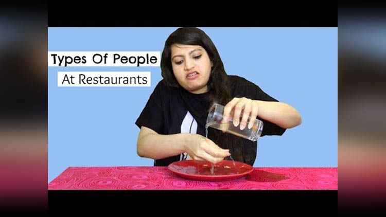 Types Of People At Restaurants viral video