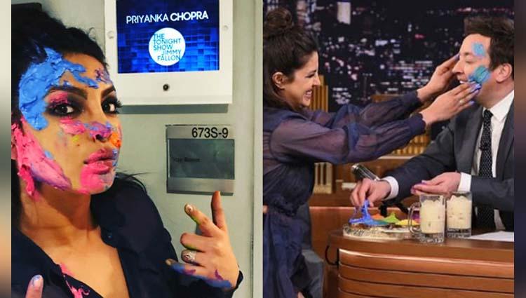 Here Is A Glimpse Of Priyanka Chopra Playing Holi On Jimmy Fallon's Talk Show