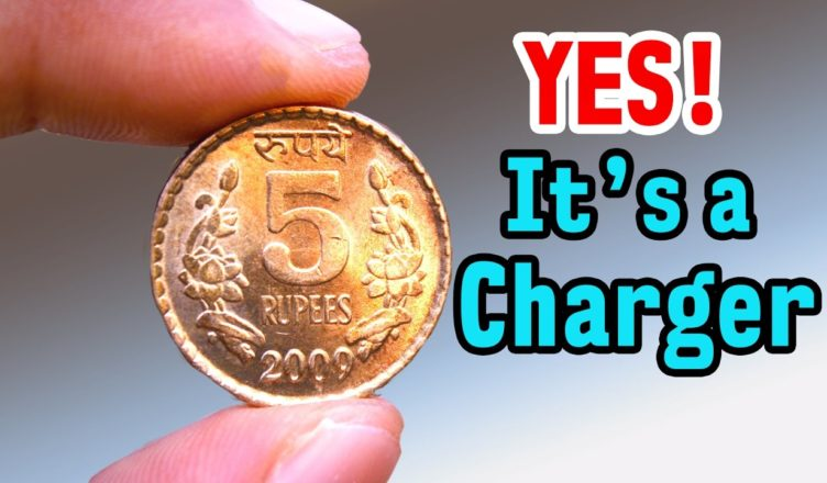 Charge Your Phone using 5 rupee coin