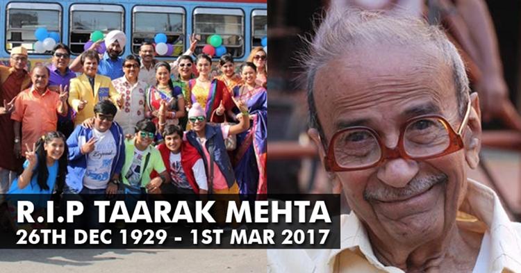 gujrati writer tarak mehta death