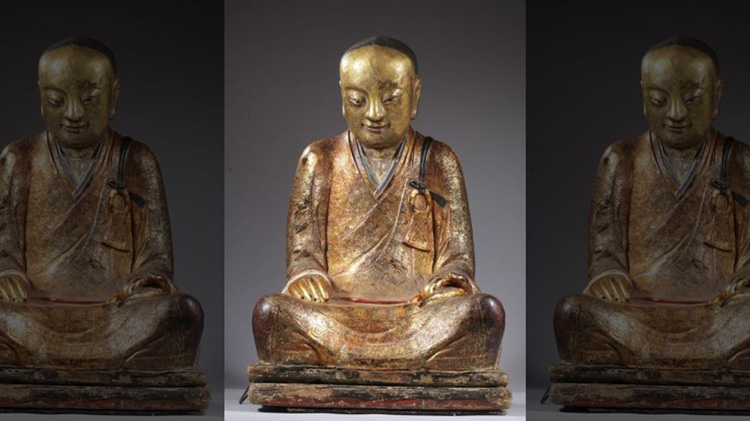 man found in 1000 year old buddha statue