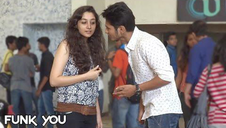 Picking up Girls with a Rose by Funk You Prank in India