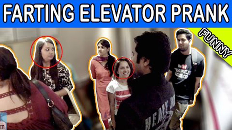 Farting in Elevator Prank Pranks in India