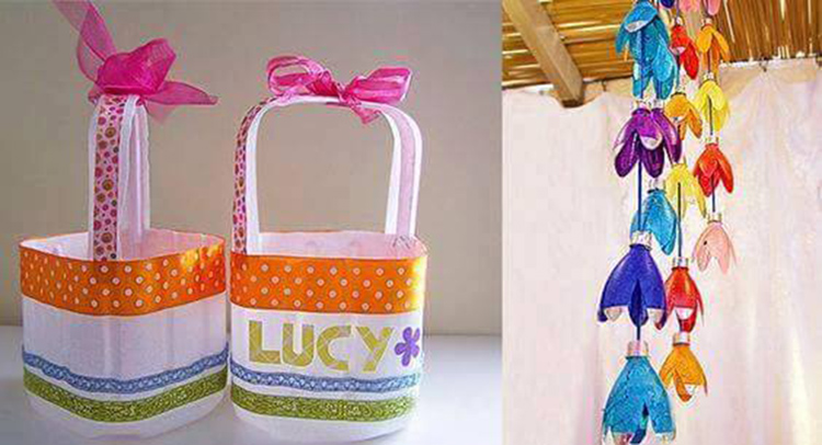 creative ways to reuse plastic water bottles and oil cane
