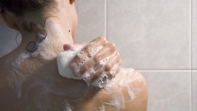 If you take a shower with soap the day, you know how it is formed