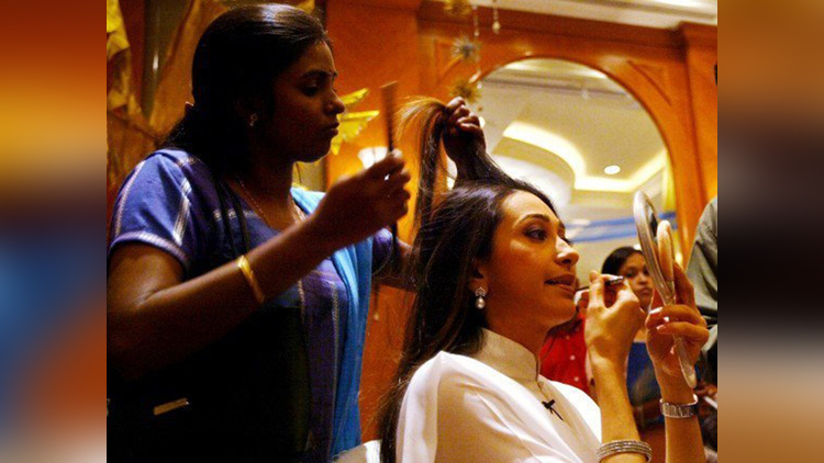 Bollywood Actress Inside Makeup Room