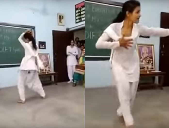 Best haryanvi dance by school girl